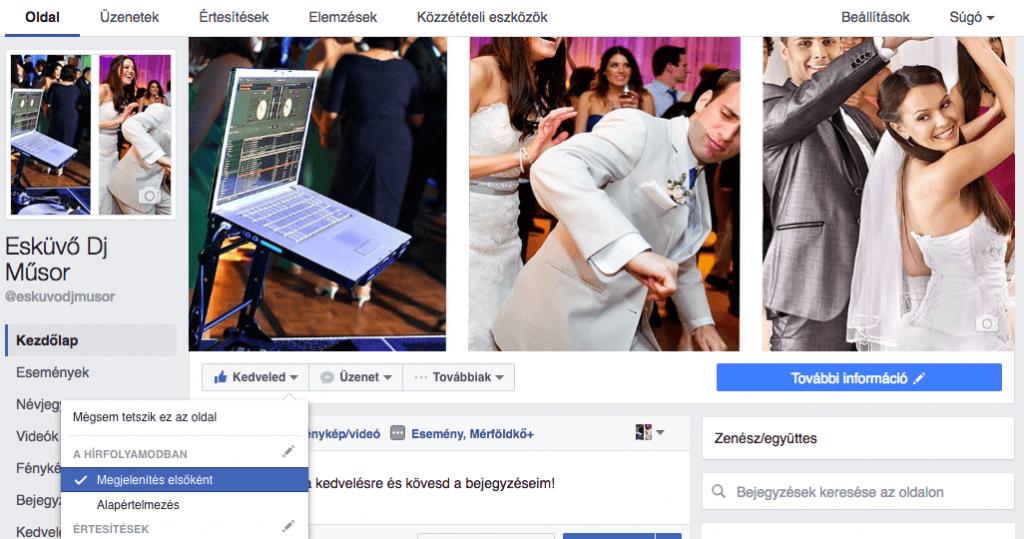 Elindult az Esküvő Dj Műsor Facebook oldalam